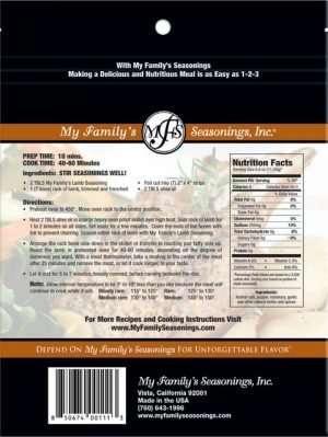 3.6 oz My Family's Lamb Seasoning